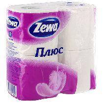 """Туалетная бумага """"Zewa Plus"""",4 рулона"""